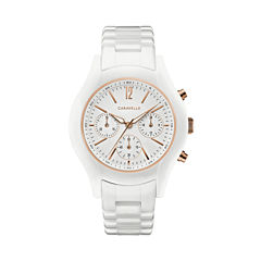 Caravelle Womens White Strap Watch-45l174