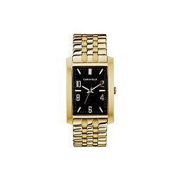 Caravelle Mens Gold Tone Bracelet Watch-44a110