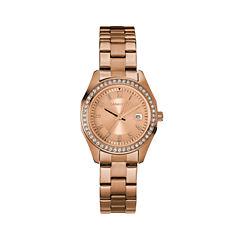 Caravelle Womens Rose Goldtone Bracelet Watch-44m114