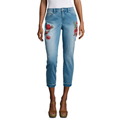 A.N.A Skinny Crop Embroidered Pant- Talls