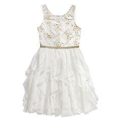 Emily West Short Sleeve Peplum Dress - Big Kid Girls