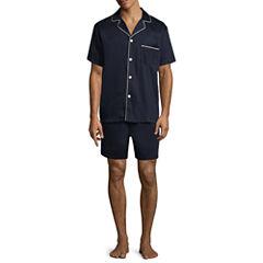 Stafford Short Sleeve/Short Leg Sateen PJ Set