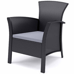 Corliving Cascade 4-pc. Patio Set In Black Rope Weave