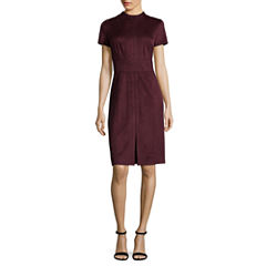 Worthington Short Sleeve Sheath Dress-Talls