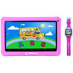 LINSAY® Kids Bundle with Pink Kids Smartest Watch on Earth with Camera and 10.1