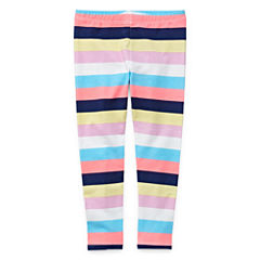 Okie Dokie Stripe Jersey Leggings - Toddler Girls