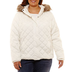 Arizona Lightweight Puffer Jacket-Juniors Plus