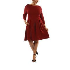 24/7 Comfort Apparel The Classic A-Line Dress-Plus