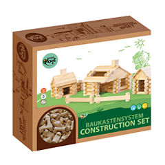 VARIS - Traditional All Wood Log Construction Set with Endless Combinations, 111 Piece Set