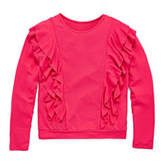 Arizona LS Ruffle Front Sweatshirt - Girls' 7-16 & Plus
