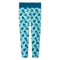 Xersion Printed Cotton Yoga Tight - Girl's 7-16 and Plus