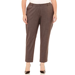 Worthington Curvy Fit Slim Leg Ankle Pant Plus