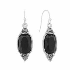 Liz Claiborne Black Gray Drop Earrings