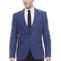 The Savile Row Company Slim Fit Indigo Sport Coat