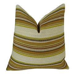 Plutus Camp Evergreen Seaweed Handmade Throw Pillow