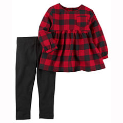 Carter's 2-pc. Checked Pant Set Girls