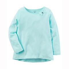 Carter's Long Sleeve Round Neck T-Shirt-Baby Girls