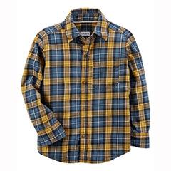 Carter's Long Sleeve Plaid Flannel Shirt-Baby Boys