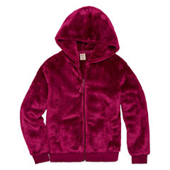 Arizona Long Sleeve Plush Hoodie - Girls' 7-16 & Plus