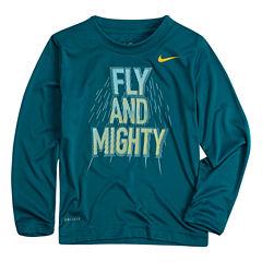Nike Long Sleeve Crew Neck T-Shirt-Preschool Boys