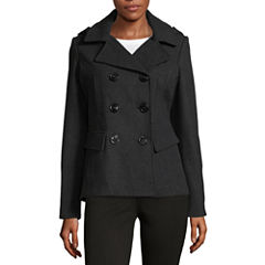 Maralyn And Me Midweight Peacoat-Juniors