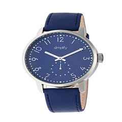 Simplify Unisex Blue Strap Watch-Sim3404