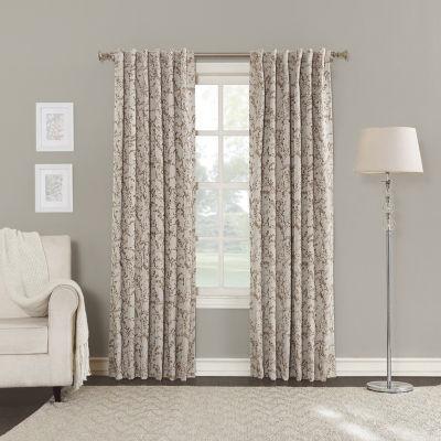 sun zero kamila blackout backtab curtain panel - 63 Inch Curtains