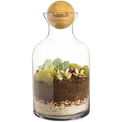 Cathy's Concepts Personalized 56 oz. Glass Terrarium with Wood Ball