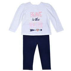 Arizona 3-pc. Pant Set Baby Girls