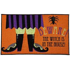 jcpenney home beware rectangular rug - Halloween Rugs