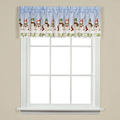 Saturday Knight Winter Wonderland Rod-Pocket Tailored Valance