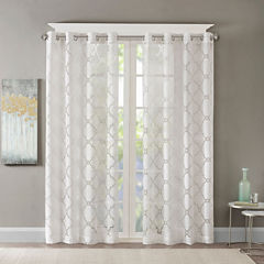 Madison Park Laya Grommet Top Grommet-Top Sheer Curtain Panel