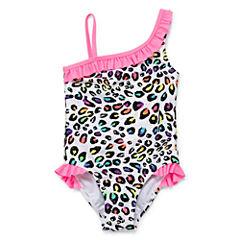 Okie Dokie Pattern One Piece Swimsuit Preschool Girls