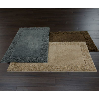 jcpenney home shag border rug collection - Washable Rugs