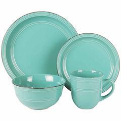 Jay Imports Madelyn Aqua 16-pc. Dinnerware Set