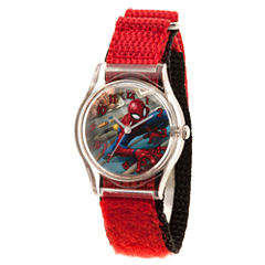 Spiderman Boys Red Strap Watch-Wma000224