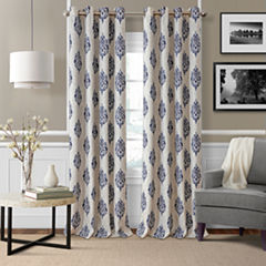Elrene Navara Blackout Curtains Blackout Grommet-Top Curtain Panel