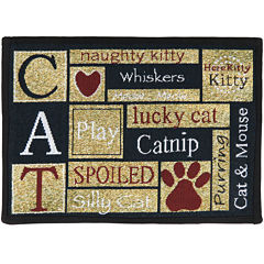 PB Paws by Park B. Smith® I Love Cats Tapestry Pet Mat