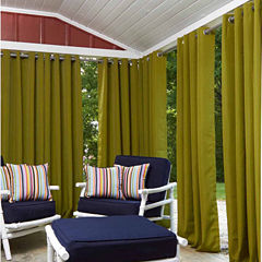 Greendale Grommet-Top Outdoor Curtain Panel
