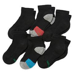 Hanes Xtemp 6 PK Quarter Socks - Boys