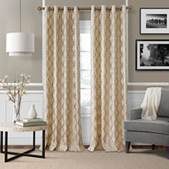 Elrene Zelda Metallic Grommet-Top Curtain Panel