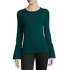 Worthington Long Sleeve Crew Neck Pullover Sweater-Talls
