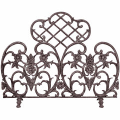 Blue Rhino Single Panel Bronze Cast Fireplace Screen