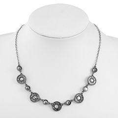 Liz Claiborne Womens Gray Collar Necklace