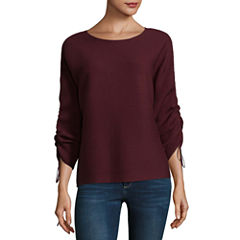 a.n.a Long Sleeve Crew Neck Pullover Sweater-Talls