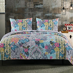 Barefoot Bungalow Moxie Damask + Scroll Quilt Set