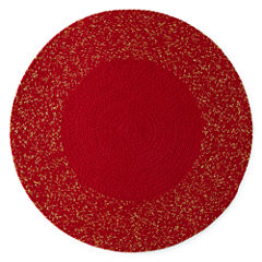 North Pole Trading Co. Red Shimmer 4-pc. Placemat