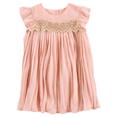 Oshkosh Short Sleeve A-Line Dress - Toddler Girls