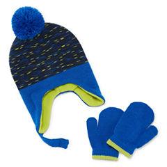 Weatherproof Peruvian Chin Strap Pom 3-pc. Cold Weather Set-Baby Boys