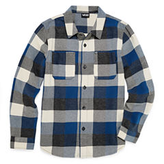 Vans Long Sleeve Button-Front Shirt Boys